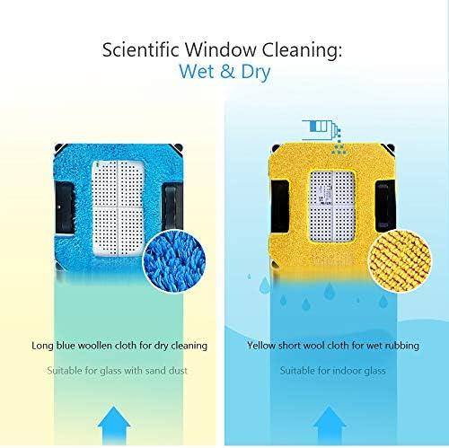 WUAZ Aspirateur Fenêtre en Verre Robot Nettoyeur de télécommande Haute Aspiration Anti-Chute aspirateur Robot