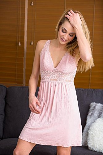 Amazing Deal Nightgown for Women - Sexy Lace Lingerie Nightshirt at Amazon  Women s Clothing store  87bc099b0