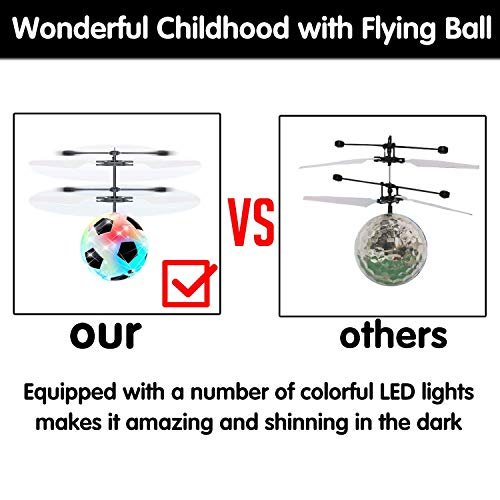 Flying Ball Drone, Kids Flying Toys Boys Girls Light Up Ball Drone RC Infrared Induction Helicopter with Remote Controller UFO Aircraft Toys Games Toys for 1 2 3 4 5 6 7 8 9 10 Year Old Indoor Outdoor by AMENON (Image #2)