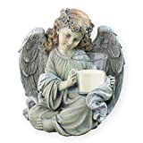 Napco Angel Statue with Candleholder, 10″ For Sale