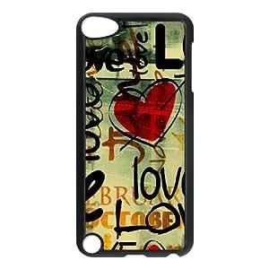 iPod Touch 5 Case Black Love Written In Graffiti LSO7761066