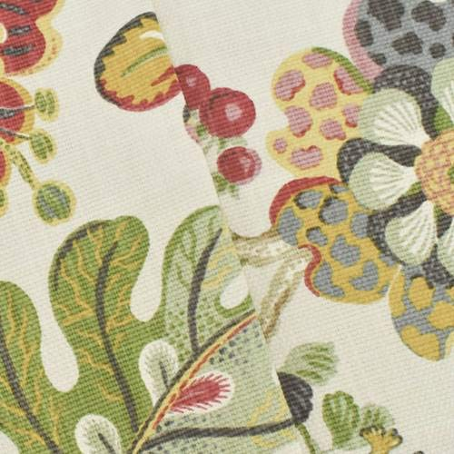 - Ivory/Multi P Kaufmann Floral Print Basketweave Decor Fabric, Fabric by The Yard