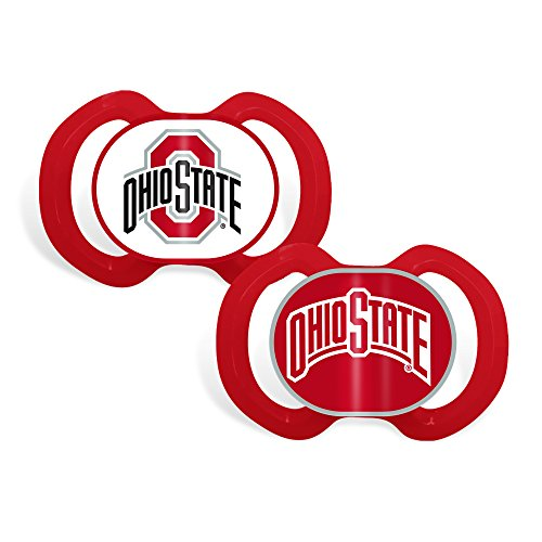 [Baby Fanatic 2 Piece Team Colors Pacifier, Ohio State] (Baby Fanatic Pacifier)