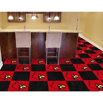 Amazon louisville cardinals ncaa team logo carpet tiles sports louisville cardinals ncaa team logo carpet tiles ppazfo