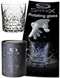 Shtox Roulette Rotating Whiskey Glass, Crystal Glasses, Best Gift for a Wedding Chauffeur/Friend/Dad Birthday