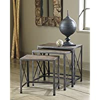 Venniton Gray/Brown Nesting End Tables, 3PC