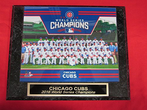 2016 Cubs World Series Champions Collector Plaque #2 w/8x10 Team (Champions Team Plaque)