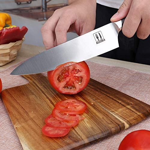 Professional Chef Knife Kitchen Knives 7.5 Inch Grilldom Professional 7.5 Inch German High Carbon Stainless Steel with Ergonomic Handle, Cooking knife for Home and Restaurant by Grilldom (Image #3)
