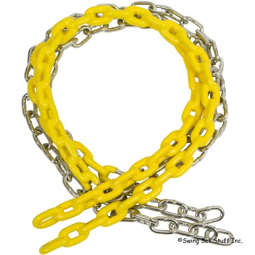 Swing Set Stuff Children's Coated Chain with SSS Logo Sticker, Yellow, 5 1/2' by Swing Set Stuff Inc. (Image #2)