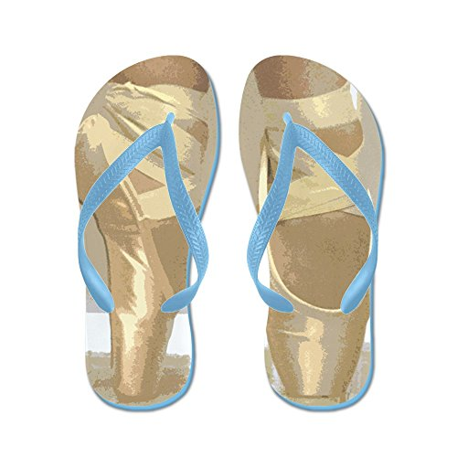 Cafepress Pointe Schoenen - Flip Flops, Grappige String Sandalen, Strand Sandalen Caribbean Blue