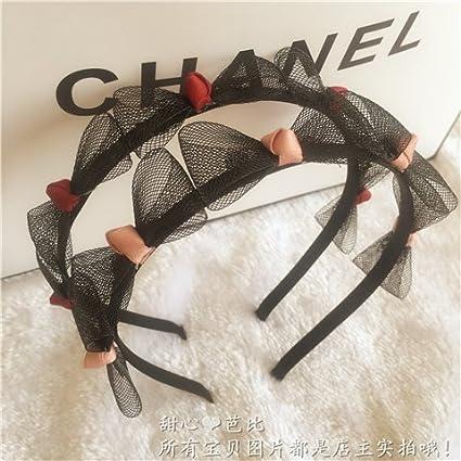 02e44013ed6 Amazon.com  usongs Korea imported a small bow hair band hair ...