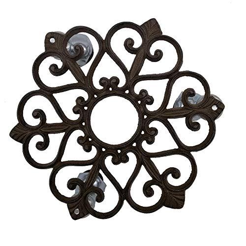 cast iron flower pot holder - 1