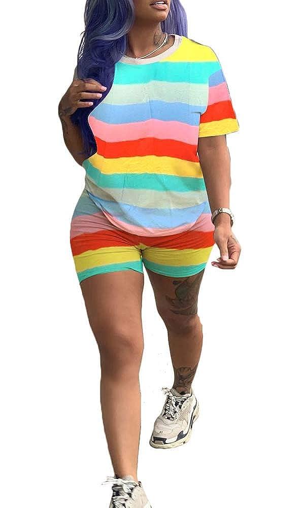 Womens Lightweight 2 Piece Sports Outfit Tracksuit Shirt Shorts Jogger Sportswear Set Activewear