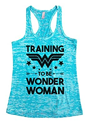 "Womens Funny Racerback Tank Top ""Training To Be Wonder Woman"" S-XL"