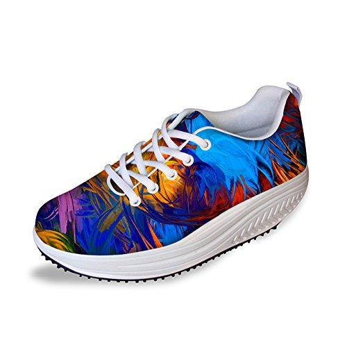 Abrigo Idea Multicolor Mujeres Mesh Walking Sneakers Colorful 2