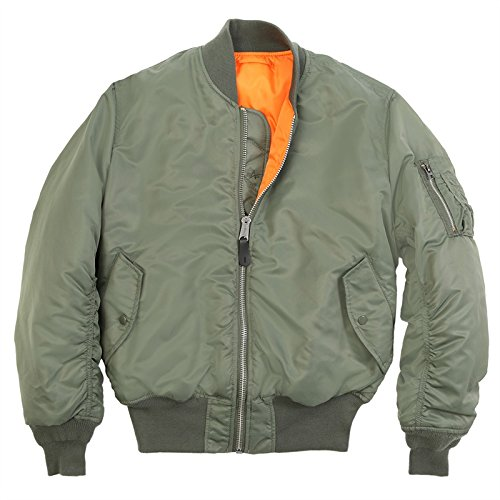 Alpha Industries Men's MA-1 Flight Bomber Jacket, Sage Green, XX-Small