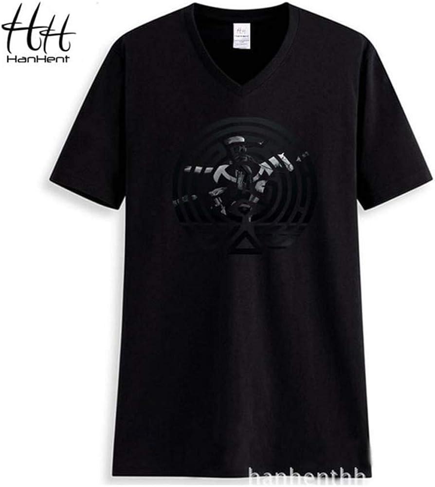 Indian Clothing Store HANHENT HH Cotton V-Neck Black Men T Shirt