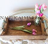 Wood Serving Tray, Rustic Farmhouse Decor Christmas Gift By NauticalMart