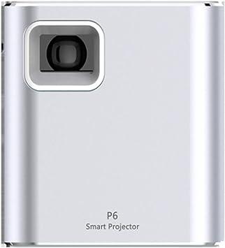 Opinión sobre Mini proyector portátil Wi-Fi inalámbrico Smart Proyectores 1080 p Full HD 80 lúmenes Proyector de oficina Plata