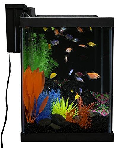 GloFish 20 Gallon Aquarium Kit with LED Lights, Decor Heater and Filter