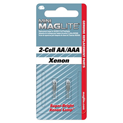 Aaa Xenon Flashlight (Maglite Replacement Lamps for 2-Cell AA Mini Flashlight, 2-Pack)