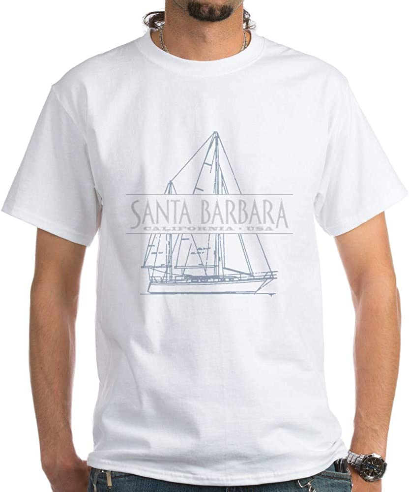 CafePress Santa Barbara T Shirt 100% Cotton T-Shirt, White 51HQbCvrKIL