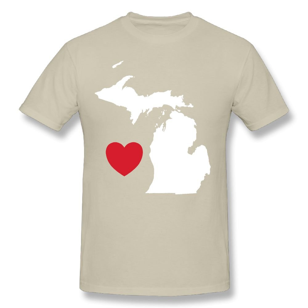 Amazon I Love Michigan Custom Fashion Comfy Short Sleeve Shirt