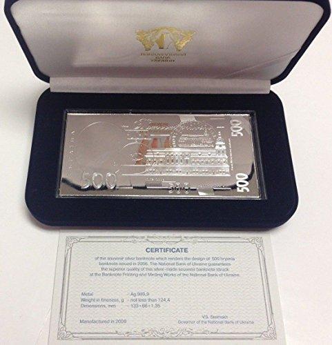 2009 UA 2009 Ukraine 500 Hryvnas Rectangular Silver 4oz G coin Good 02016