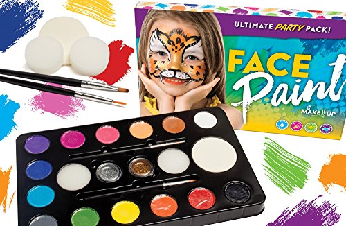 Face Paint Ultimate Party Pack by Make it Up - No Face Costume Face Paint