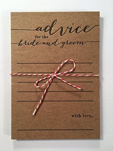 advice for the bride and groom letterpress note card set, wedding, bridal shower, keepsake, newlywed