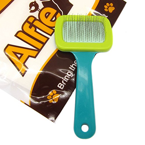 Alfie Pet - Soft Slicker Brush for Small Animal - Ideal for Rabbit