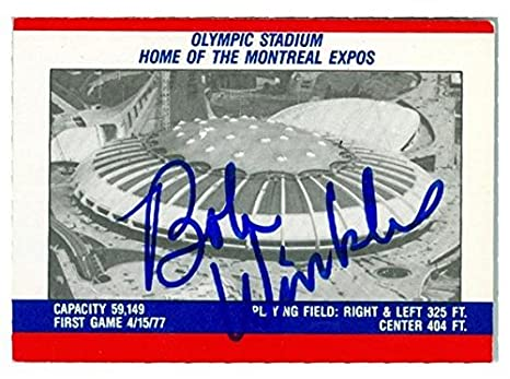 Bobby Winkles Autographed Baseball Card Montreal Expos