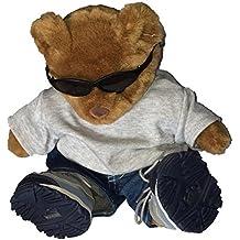 Build a Bear Bear Wearing Sunglasses, Shirt, Jeans and Skechers