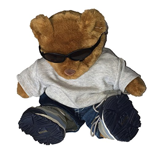 Build a Bear Bear Wearing Sunglasses, Shirt, Jeans and - Rudolph Sunglasses