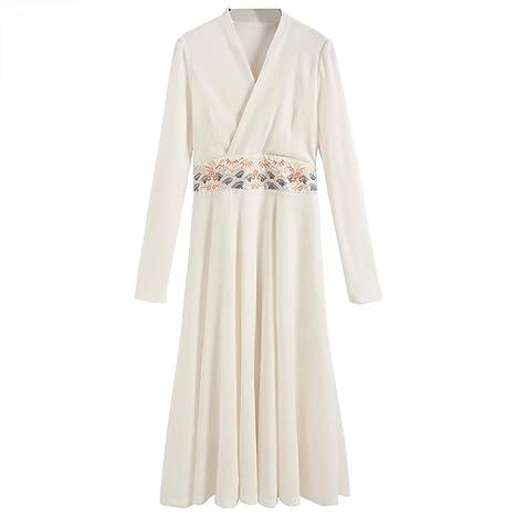BINGQZ Casual Vestido Vestido de Terciopelo Moda de Mujer de ...