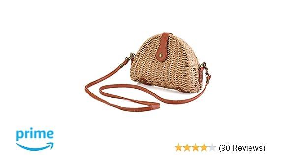 bcee9c0fb Crossbody Straw Bag, JOSEKO Womens Straw Handbag Shoulder Bag for Beach  Travel and Everyday Use