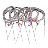 Mxfans 10 Sets 2m Steel 1.5x100mm Probe K Type Sensor High Temperature Thermocouple