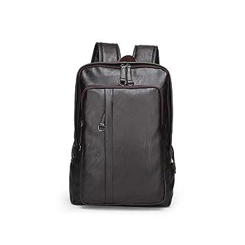 Leathario Mochila Tipo Caual Escolar Hombre Cuero Sintetico Vintaje Retro de Mano Backpack Laptop para Portátiles