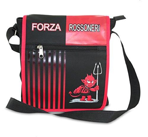 marsupio a nero tracolla rossoneri diavoletto Borsa 03757 Forza rosso qHESxxwa