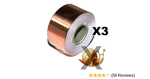 Electronics Repair and Stained Glass Making XFasten Conductive Copper Tape DIY Material 1-Inch x 12-Yards Slug Repellent