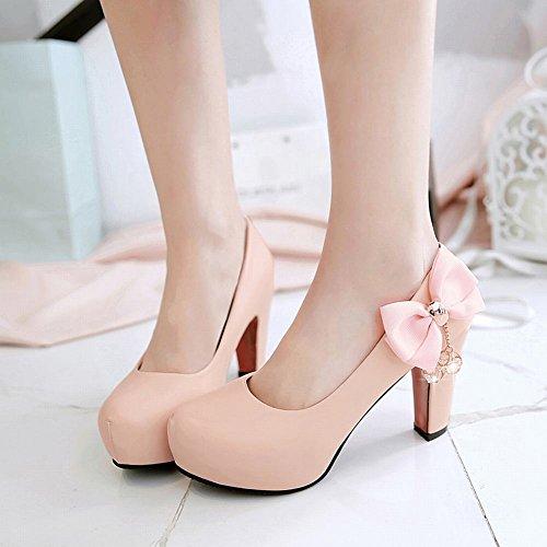 MissSaSa Damen high heel Schleife Strass Pumps Pink