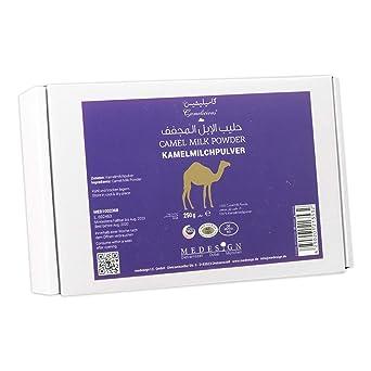 Polvo de leche de camella 100% pura procedente de los Emiratos / Garantía de que no contiene aditivos artificiales / Peso neto:480 gr / Paquets individuales ...