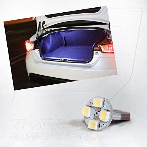 TGP T10 White 4 LED SMD Trunk Wedge Light Bulb Single 2013-2015 Subaru BRZ