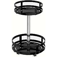 360ー Rotating Storage Rack 1-3 Tiers,Multi-Layer Condiments Turntable Rotatable Seasoning Rack,Rotating Spice Rack…