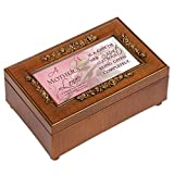 Cottage Garden Mother's Love Inspirational Decorative Woodgrain Rose Music Box – Plays How Great Thou Art For Sale