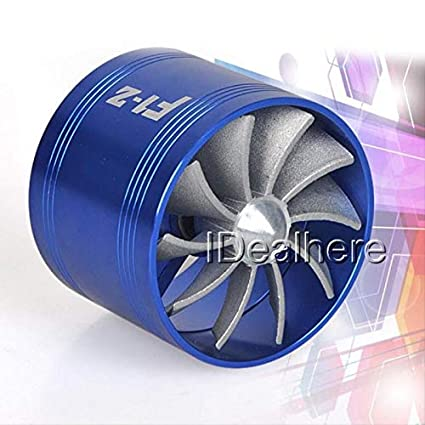 Topsame New Blue F1-Z Air Intake Fan Supercharger Turbo Turbine Fuel Gas Saver Fan