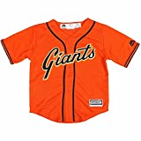 Team San Francisco Giants MLB Majestic Orange Official Alternate Cool Base Jersey For Toddler