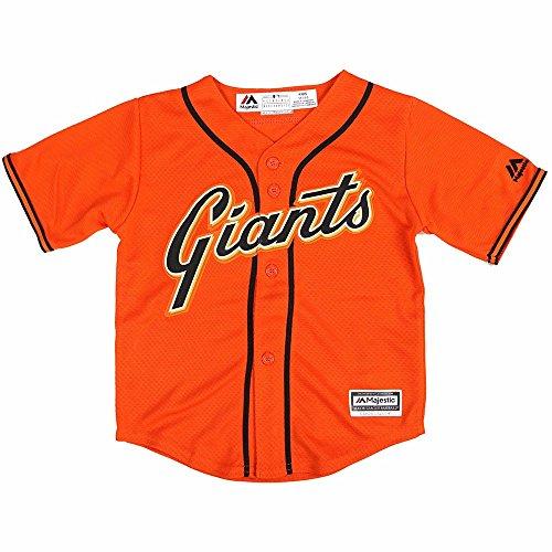 Team San Francisco Giants MLB Majestic Orange Official Alternate Cool Base Jersey For Toddler – DiZiSports Store