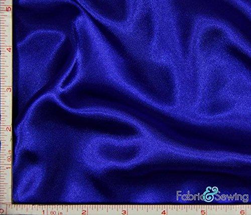 Royal Blue Shiny & Dull Stretch Charmeuse Satin Fabric 2 Way Stretch Polyester Spandex 5 Oz 57-58 Blue Stretch Satin
