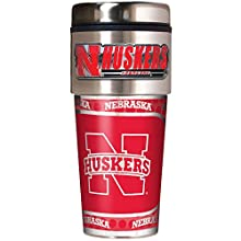NCAA Nebraska Cornhuskers Metallic Travel Tumbler, 16-Ounce
